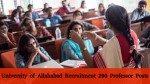 University Of Allahabad Recruitment For 290 Professor Posts