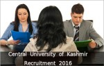 Central University Of Kashmir Recruitment For 12 Faculty Posts