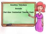 Kendriya Vidyalaya Recruitment For Part Time Contractual Teacher Posts
