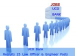 Uco Bank Recruitment For 25 Law Officer And Engineer Posts