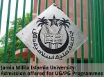 Jamia Millia Islamia Univ Admissions Offered For Ug Pg Programme