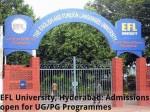 Efl University Hyderabad Admissions Open For Ug Pg Programme