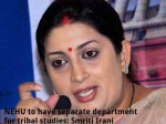 Nehu To Have Separate Department For Tribal Studies Smriti Irani
