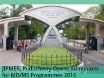 Jipmer Puducherry Opens Admissions For Md Ms Programmes