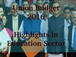 Union Budget 2016 Govt To Create Higher Education Financing Agency