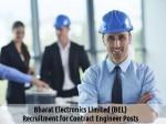 Bel Recruitment 2016 Job Openings For 14 Contract Engineer Posts