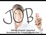 Military Hospital Nasirabad Job Openings For 4 Ward Sahayika Post