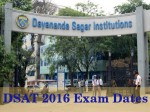 Dayananda Sagar University Announces Dsat 2016 Exam Dates