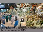 Introduction To Operations Management An Online Course By Iimbx