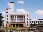 Iit Kharagpur Invites Applications For Ll M Programme