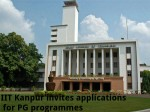Iit Kanpur Invites Applications For Pg Programmes
