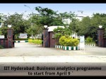 Iit Hyderabad Business Analytics Programme To Start From April