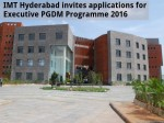 Imt Hyderabad Invites Applications For Executive Pgdm Programme
