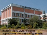 Jss University Mysore Invites Applications For Mbbs Programme