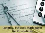 Mathematics Paper Analysis Karnataka 2 Pu Board Exam