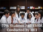Indian Students With Foreign Medical Degrees Fail Mci Test