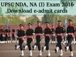 Upsc Nda Na I Exam 2016 E Admit Cards Available For Download