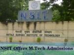 Netaji Subhas Institute Technology Offers M Tech Admissions