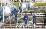Oil India Limited Recruitment For 10 Assistant I Posts