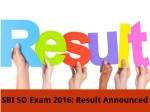 Sbi So Exam 2016 Result Announced