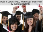 Study Canada Mba Most Sought After Course Overseas Students