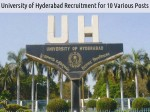 University Of Hyderabad Recruitment For 10 Various Posts