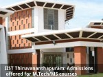 Iist Thiruvananthapuram Admissions Opened For M Tech Ms Courses