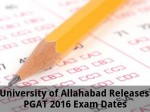 University Of Allahabad Releases Pgat 2016 Exam Dates