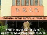 Vnit Nagpur Offers Admissions For M Sc Programmes