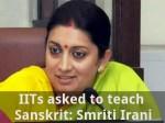 Iits Asked To Teach Sanskrit Smriti Irani