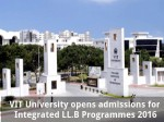Vit University Opens Admissions For Integrated Ll B Programmes