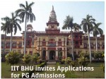 Iit Bhu Offers Admissions For Pg Admissions