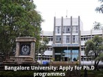 Bangalore University Invites Applications For Ph D Programmes