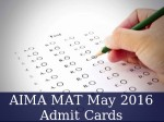 Aima Mat May 2016 Download Admit Cards