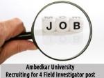 Ambedkar University Invites Application For 4 Field Investigator Post