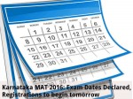 Karnataka Mat 2016 Exam Dates Declared