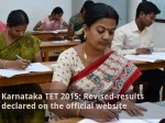 Karnataka Tet 2015 Revised Results Declared On The Official Website
