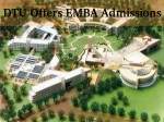 Delhi Technological University Offers Emba Admissions For 2016 Session