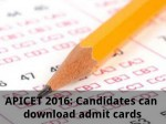 Apicet 2016 Candidates Can Download Admit Cards