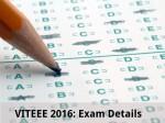 Viteee 2016 Exam Details