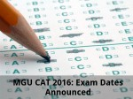 Mgu Cat 2016 Exam Dates Announced