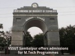 Vssut Sambalpur Offers Admissions For M Tech Programmes