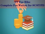 Iit Fee Hike Complete Fee Waiver For Sc St And Disabled Students