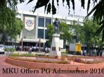 Madurai Kamaraj University Offers Admissions To Pg Programmes