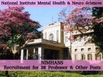 Nimhans Is Hiring For 38 Professor And Other Posts