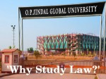 Why Study Law Seminar Organised By O P Jindal University