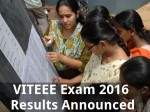 Viteee Exam 2016 Results Announced