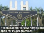 Hyderabad University Admissions Open For Pg Programmes