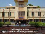 Vnit Nagpur Invites Applications For Ph D Programmes