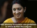 Hrd Ministry Formulates New Guidelines To Award M Phil Ph D Degree
